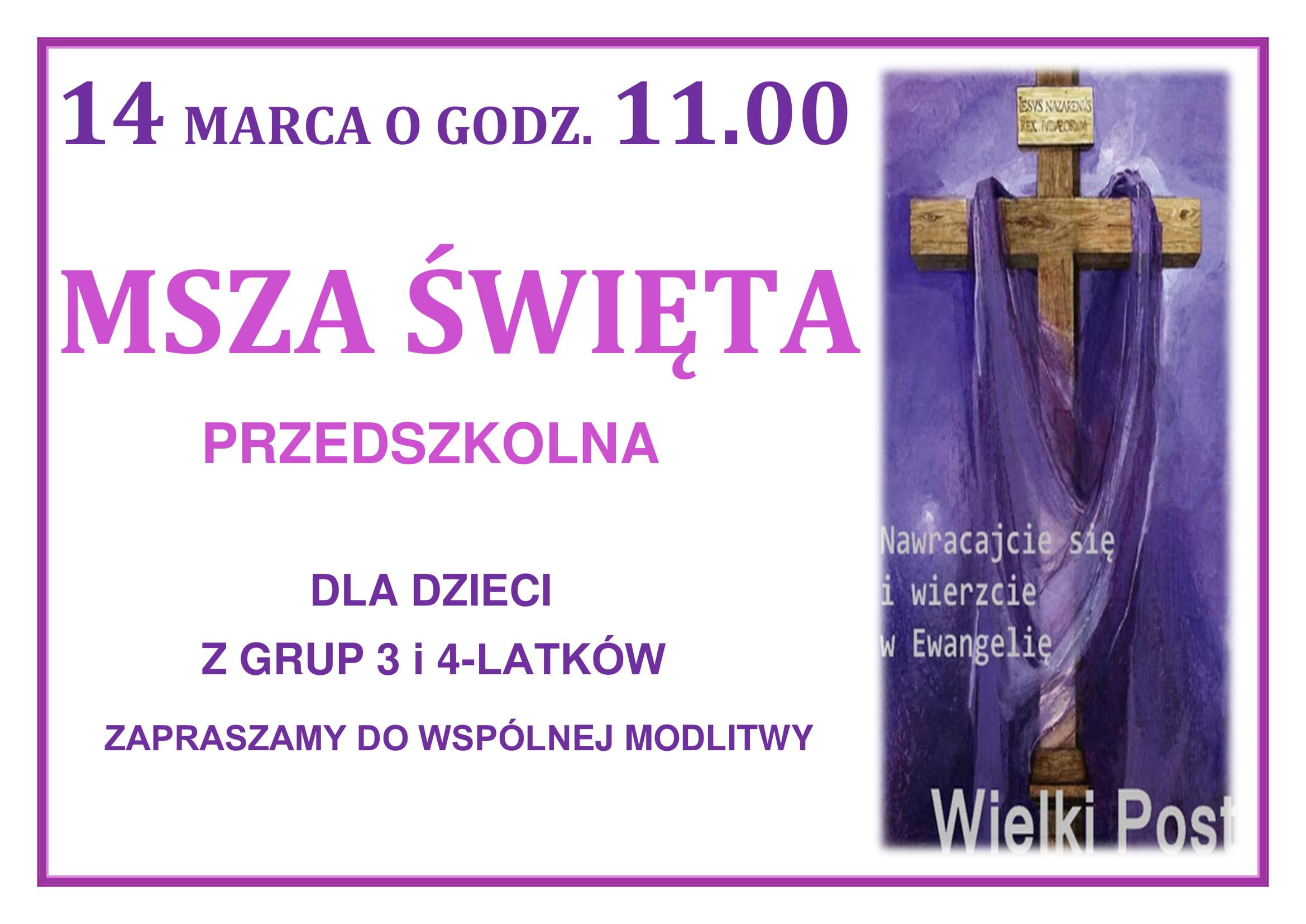 Msza Święta 14 marzec 2021